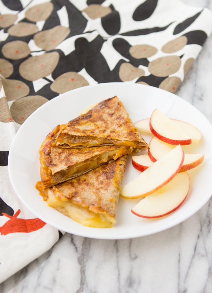 Pumpkin Cheddar Quesadillas