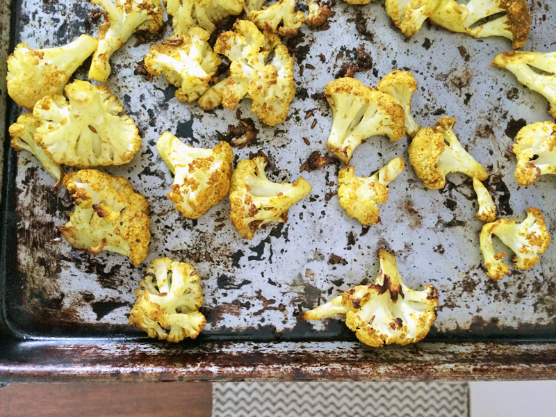 Roasted Cauliflower with Punjabi Seasoning