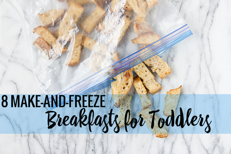 Make and Freeze Breakfasts for Toddlers