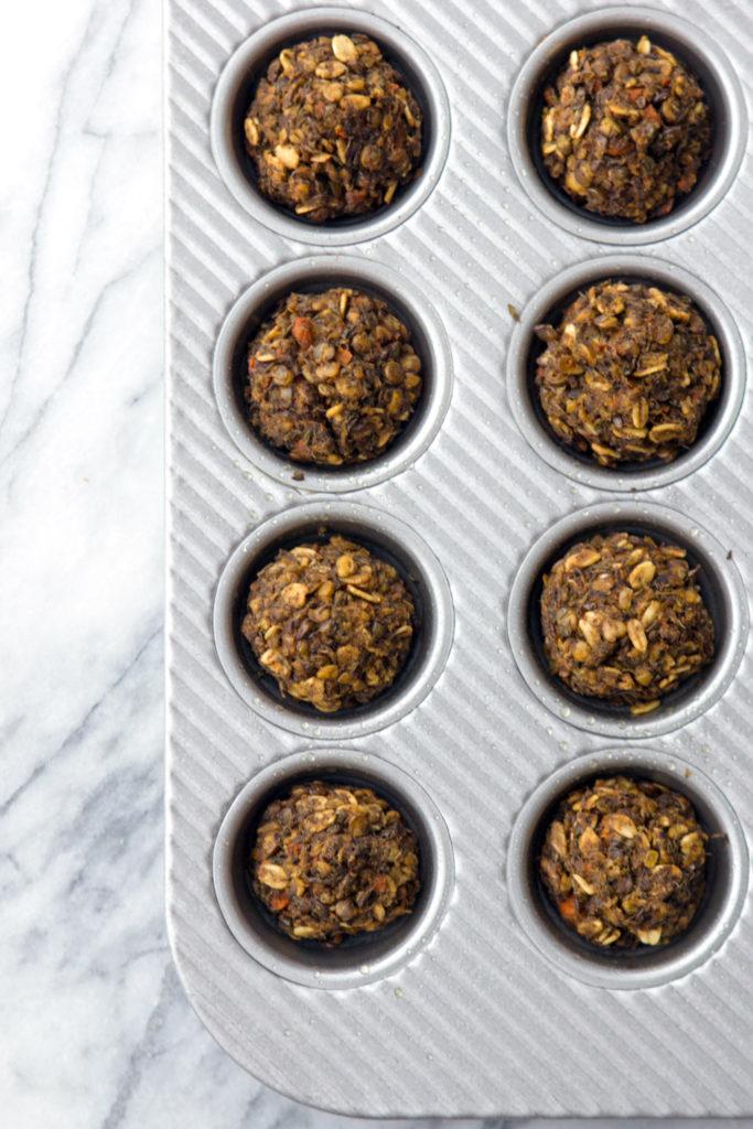 Make & Freeze Lentil Oat Meatballs